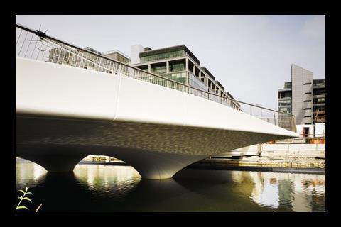 This bridge at Spencer Dock in Dublin was designed by Amanda Levete Architects. There are fears that, due to cuts in the National Development Plan, many proposed infrastructure schemes will be delayed or cancelled